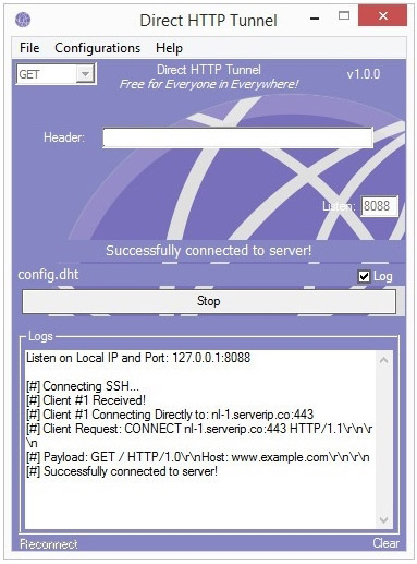 Direct HTTP Tunnel